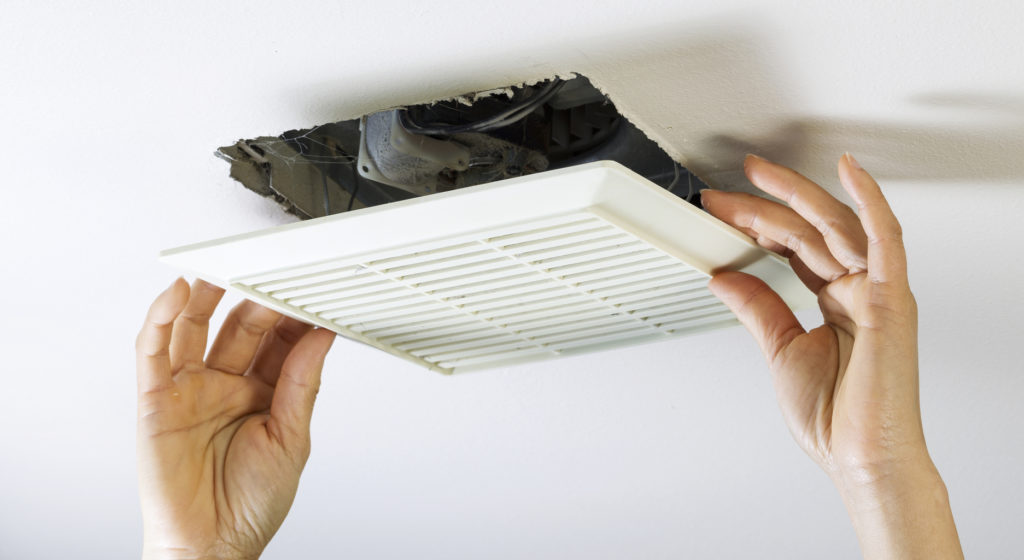 RemovingGE Smith Electric Bathroom Fan Vent Cover