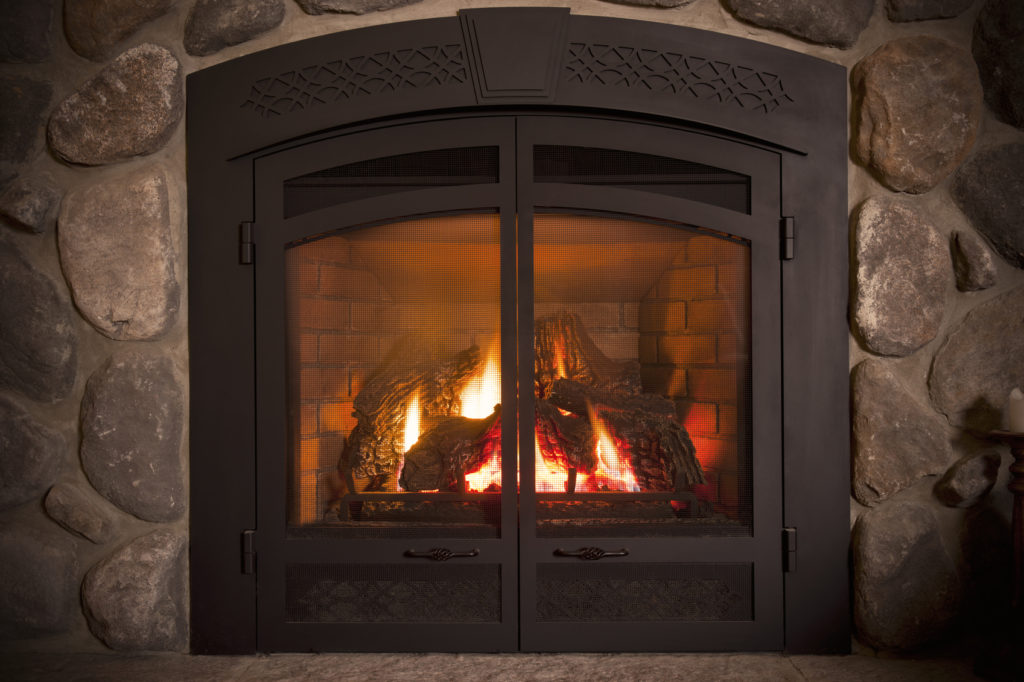GE Smith Electric Natural gas fireplace